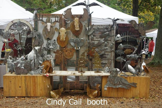 Bluff Park Art Show 2015 Cindy Cail booth