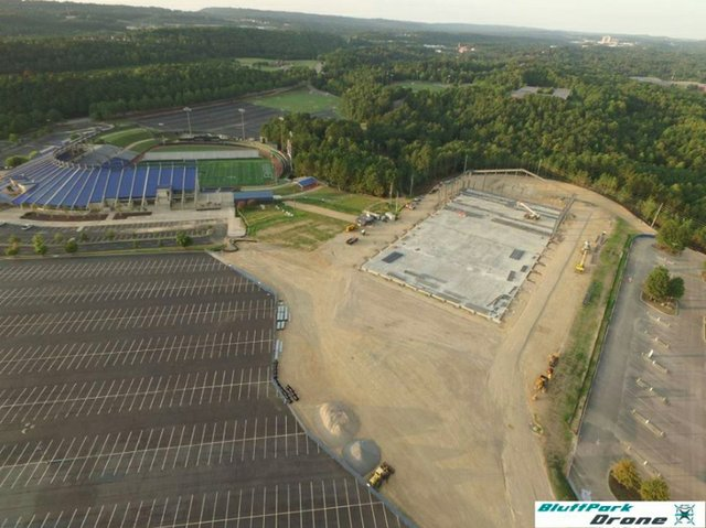 Hoover sports complex construction 9-3-16