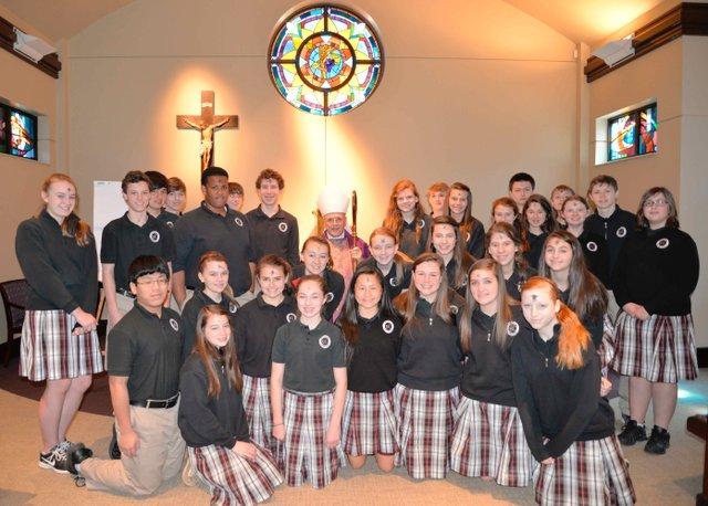 Bishop Foley visits Prince of Peace